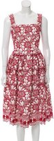 Dolce & Gabbana Guipure Lace Midi Dress w/ Tags