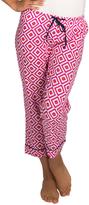 Malabar Bay Pink Geometric Organic Cotton Hopi Capri Lounge Pants