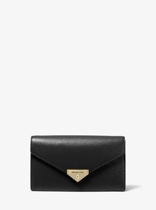 MICHAEL Michael Kors Grace Medium Patent Leather Envelope Clutch