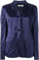 Jil Sander crushed velvet blazer - women - Silk/Cotton/Cupro/metal - 40