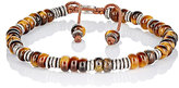 M. Cohen Men's Beaded Bracelet-BROWN