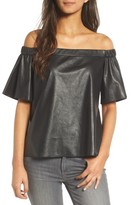 Bailey 44 Women's Off The Shoulder Faux Leather Top