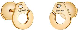 Dinh Van Menottes R7.5 Diamond Stud Earrings - Yellow Gold