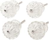 Rejuvenation Set of 4 Squash Blossom Glass Knobs