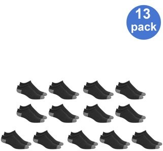 Athletic Works Men's No Show Socks 13-Pack