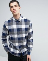 Celio Long Sleeve Regular Fit Shirt in Brushed Check