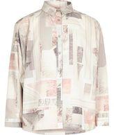 River Island Girls pink marble print shirt