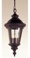 Tucker 3-Light Outdoor Hanging Lantern Charlton Home Finish: Black