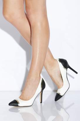 Paper Dolls Outlet Black and White Perspex Court Heel