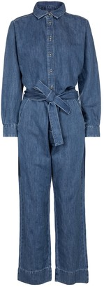 7 For All Mankind Honor denim jumpsuit