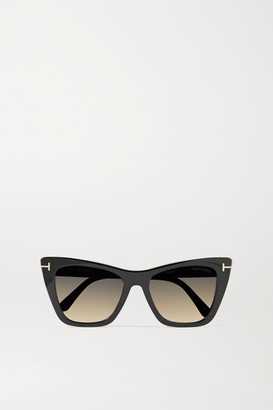 Tom Ford Poppy-02 Cat-eye Acetate Sunglasses - Black