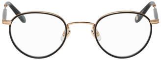 Garrett Leight Black and Gold Walgrove Glasses