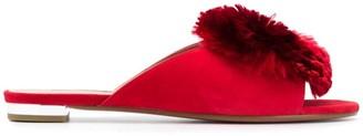 Aquazzura Crystal Lotus slippers