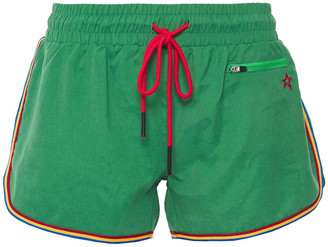 Perfect Moment Striped Washed-woven Shorts