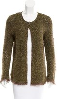 Chanel Mohair-Blend Open Knit Cardigan
