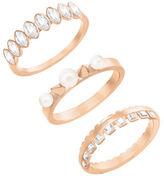 Swarovski Gangster Crystal Rose Gold Ring Set