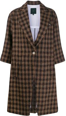 Jejia Check Print Coat