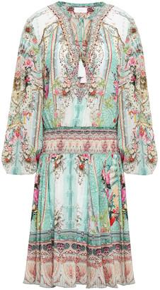 Camilla Crystal-embellished Printed Silk Crepe De Chine Dress