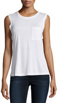 BCBGMAXAZRIA Open-Back Sleeveless Tee, White