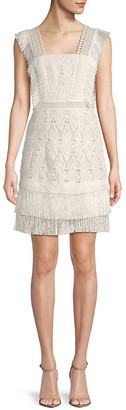 Avantlook Embellished Fringe Cocktail Dress