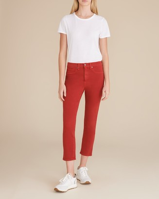 Veronica Beard Kate Cropped High-Rise Skinny Jean