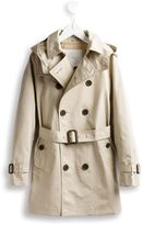 Burberry hooded trench coat - kids - Cotton/Polyester - 4 yrs