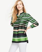 Ann Taylor Petite Striped Popover Tunic