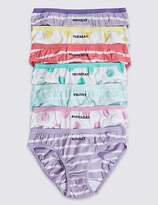 Marks and Spencer Pure Cotton Bikini Knickers (6-16 Years)