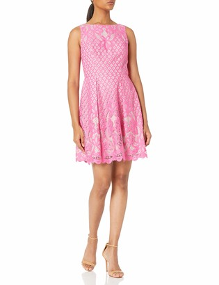 Adrianna Papell Women's Giselle Lace Fit and Flare Dress