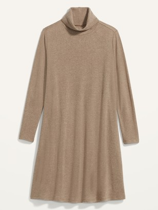 Old Navy Cozy Plush-Knit Turtleneck Plus-Size Swing Dress