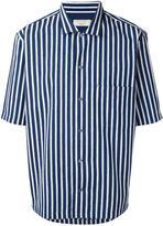 MAISON KITSUNÉ striped shortsleeved shirt - men - Cotton - 39