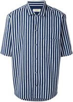 MAISON KITSUNÉ striped shortsleeved shirt