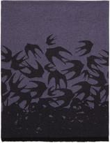 McQ by Alexander McQueen Purple Swallow Dégradé Scarf
