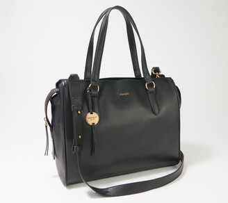 margot new york Taylor Triple Compartment Leather Tote