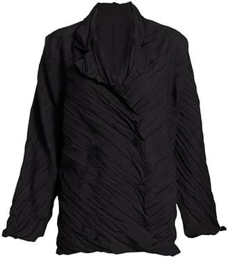 Issey Miyake Tectorum Pleated Short Jacket
