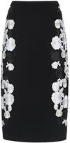 Diane von Furstenberg Hillaria Floral Embroidered Pencil Skirt
