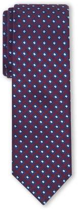 Isaac Mizrahi Boys 8-20) Burgundy Diamond Pattern Silk Tie