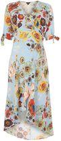 Topshop MATERNITY Star & Floral Print Wrap Midi Dress