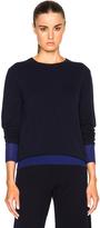 Victoria Beckham Cashmere Silk Trim Crewneck Sweater
