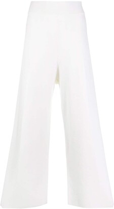 Fedeli Cropped Wide Leg Trousers