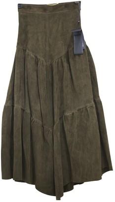 Saint Laurent Brown Suede Skirt for Women