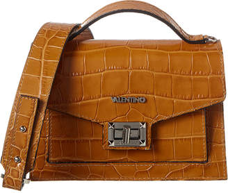 Mario Valentino Valentino By Titti Croc-Embossed Leather Shoulder Bag