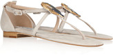 Oscar de la Renta Guitarra embellished suede sandals