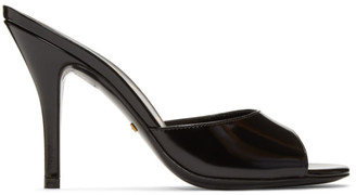 Gucci Black Slide Heeled Sandals