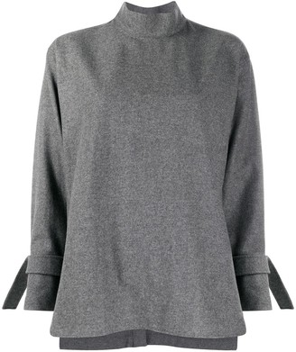 Jejia High Neck Virgin Wool Blend Jumper