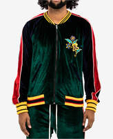 Hudson Nyc Men's Colorblocked Embroidered Velour Track Jacket