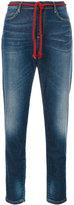 Bellerose rope belt cropped jeans