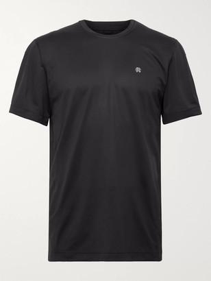 Reigning Champ Hybrid Stretch-Jersey and Mesh T-Shirt - Men - Black