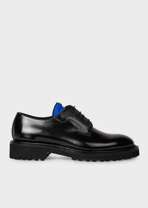 Paul Smith Women's Black High-Shine Leather 'Mac' Derby Shoes