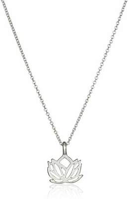 Dogeared Reminder New Beginnings Sterling Rising Lotus Pendant Necklace